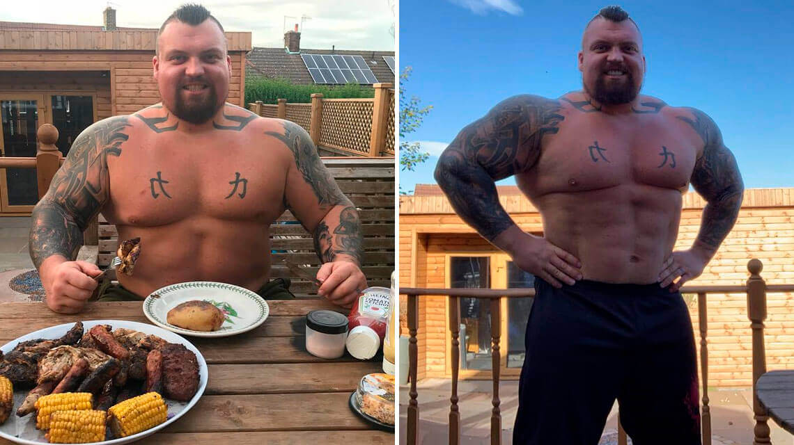 Strongman Eddie Hall looks shredded after losing 60 pounds